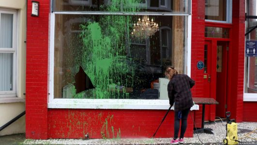 Cafe linked to the founder of LAD parody site is vandalised