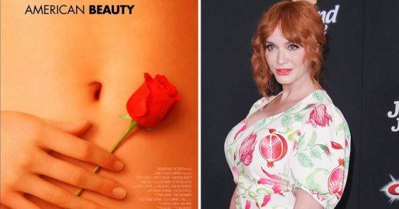 Christina Hendricks reveals she's the hand behind iconic American Beauty poster but it's not her body