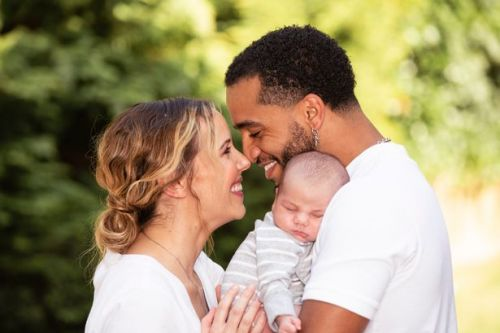 Aston Merrygold and fiancée Sarah introduce son Macaulay in exclusive video