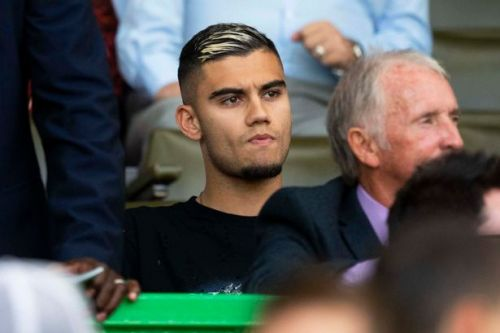 Andreas Pereira in Celtic Park mystery as Manchester United star attends Hearts clash