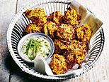Curry without the calories! Baked onion bhajis