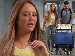 Charlotte Crosby opts for comfort in leggings and a sporty tee as she flies to Brazil with boyfriend