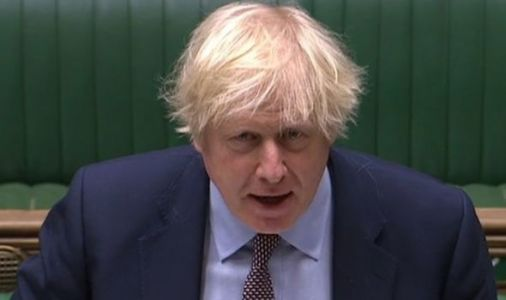 Boris Johnson SMASHES his fist on dispatch box as he rages in PMQs row with Keir Starmer