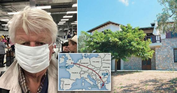 Boris Johnson's dad ignores lockdown travel rule to fly to Greek holiday home