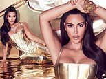 Kim Kardashian shines in a gold corset for new Valentine's Day scent amid 'divorce' from Kanye West