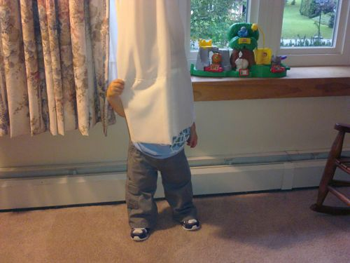 Parents share their children's laughably poor attempts at hide and seek