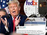 Trump says election will be a 'fraudulent mess' as UPS and FedEx warn they can't carry ballots