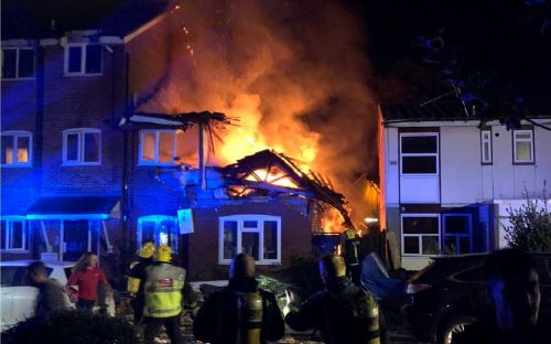 Three rescued and one missing after suspected gas explosion in Harrow flat