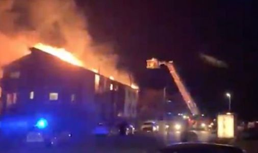 Huge fire engulfs block of Brighton flats - fire brigade on scene