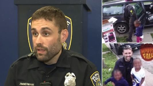 Kind cop buys car seats for broke mother