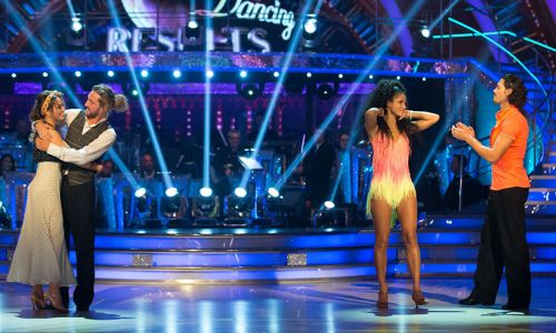 Vick Hope and Graziano Di Prima face Seann Walsh and Katya Jones in Strictly dance-off