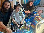 Jason Momoa visits sick kids and says 'greatest part of being Aquaman is making children happy'