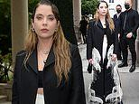 Ashley Benson displays her fashion credentials as she attends Milan Fashion Week