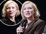 Cate Blanchett looks stylish in a brown blazer and a black top at Berlin International Film Festival