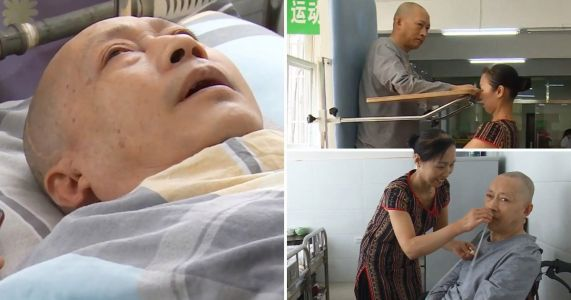 Man wakes up from five-year coma after wife spent 20-hour days caring for him