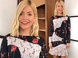 Holly Willoughby's floral dress is compared to a 'patchwork quilt' as she divides viewers' opinions