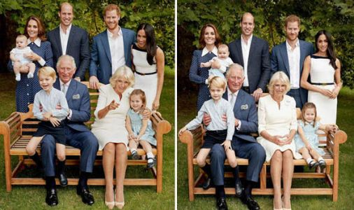 Happy birthday Charles! Candid picture shows Royal Family in fits of laughter during photo