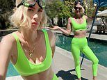 January Jones poses in a bra top and leggings as she reveals she found a DEAD frog