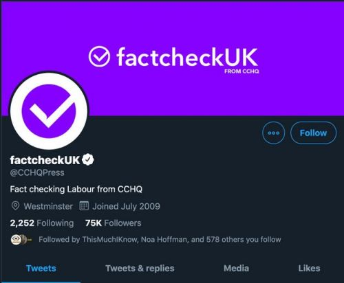 Tory HQ Has Been Accused Of Misleading People On Twitter - Again