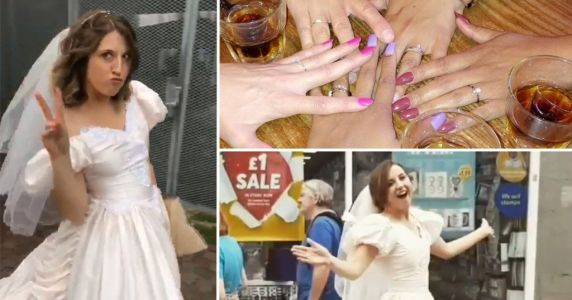Woman throws wedding-themed birthday party because she's sick of seeing friends get married