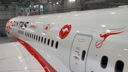 Qantas unveils new livery on its latest Boeing 787-9 Dreamliner