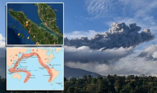 Indonesia volcano MAPPED: Mount Sinabung in Pacific Ring of Fire erupts smoke and ash