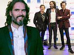 Russell Brand puts on a dapper display withDuran Duran's John and Roger Taylor at charity ball