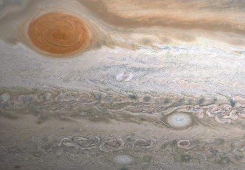 Juno captures sharp view of 'Clyde's Spot' on stormy Jupiter