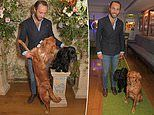 James Middleton takes two of his dogs out for a dog-friendly event at the George Club