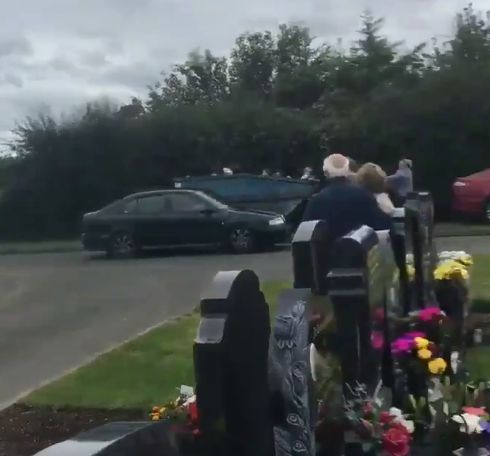 Horrifying screams as driver ploughs into crowds at graveyard ceremony 'injuring four'