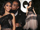 Saweetie sets pulses racing in sheer black with boyfriend Quavo at GQ Men of the Year party in LA