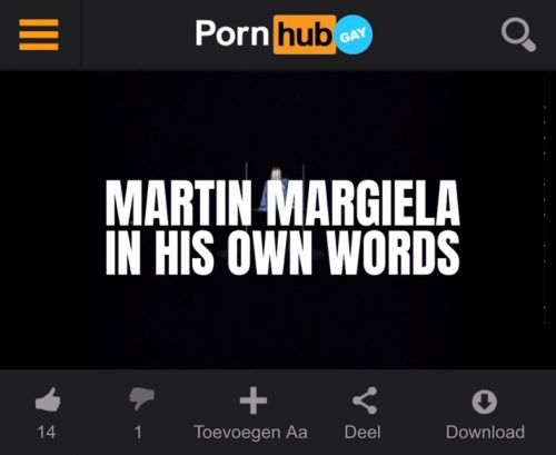 Someone uploaded the new Margiela documentary to Pornhub