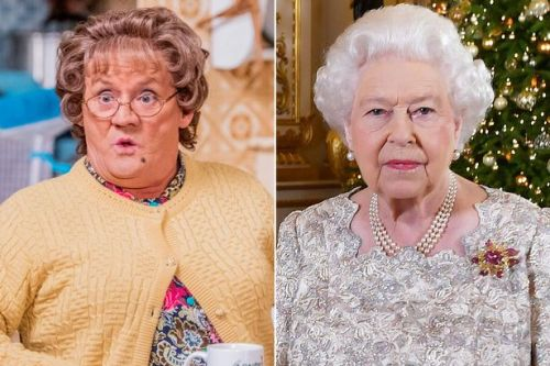 The Queen watches the Mrs Brown's Boys Christmas special before its airs
