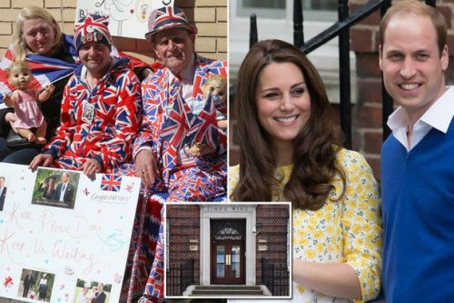 Royal fans camp outside hospital in hope Kate Middleton will have baby on Queen's birthday