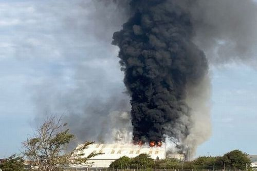 Port 'explosion' near Brighton sparks huge fire with black smoke seen for miles