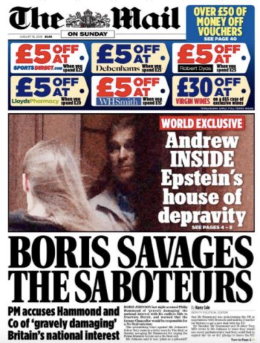 The Sunday Papers spell further trouble for Prince Andrew