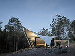 How a four-bedroom home hidden on a forest clearing hides it luxury on the inside