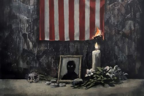 Banksy torches US flag in new artwork in support of Black Lives Matter protests