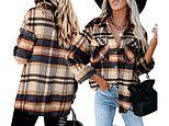 This oversized plaid shacket is the cosy layering piece you need this autumn and its on Amazon