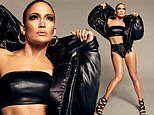 Jennifer Lopez, 50, dazzles in racy black leather outfit while promoting shoe line