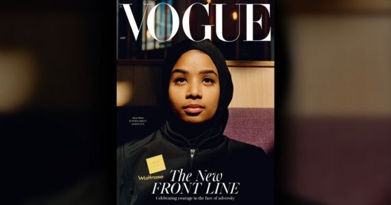 Meet the Waitrose worker appearing on the cover of Vogue as part of the magazine's tribute to key workers