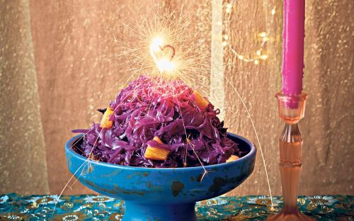 Red cabbage with pickled pineapple recipe