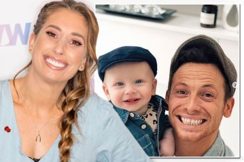 Stacey Solomon shares adorable snap of Joe Swash and baby Rex in matching hats
