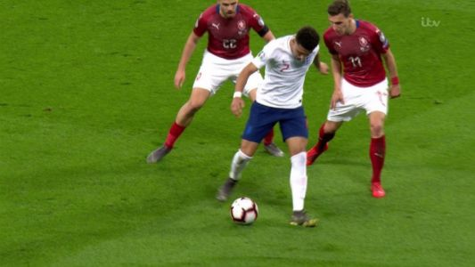 Fans react as England starlet Sancho nutmegs two Czech defenders in one move