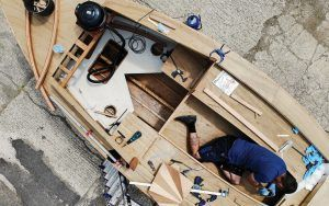 PBO Secret 20 Project Boat update: Spars, partitions and trims