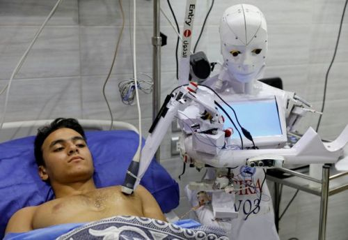 How This Slightly Terrifying Covid Robot Is Helping Out At A Hospital