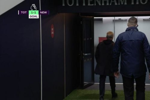 Jose Mourinho storms down tunnel after Newcastle penalty for farcical handball