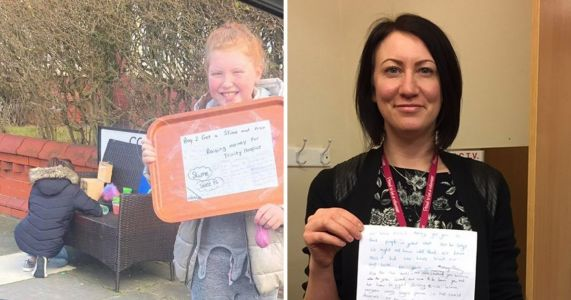 Hospice manager left in tears after two little girls wrote a 'sorry' letter for only raising £4