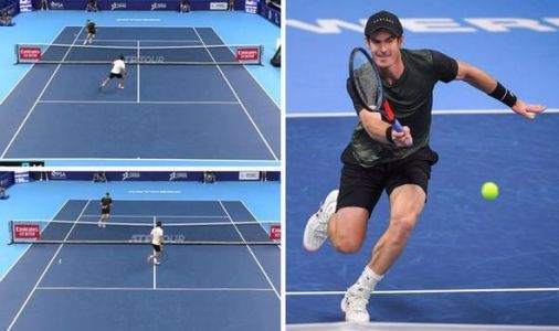 Andy Murray produces superb winner against Pablo Cuevas at European Open - video