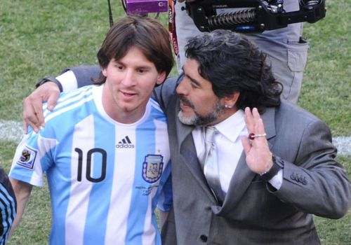 Lionel Messi pays tribute to 'eternal' Diego Maradona